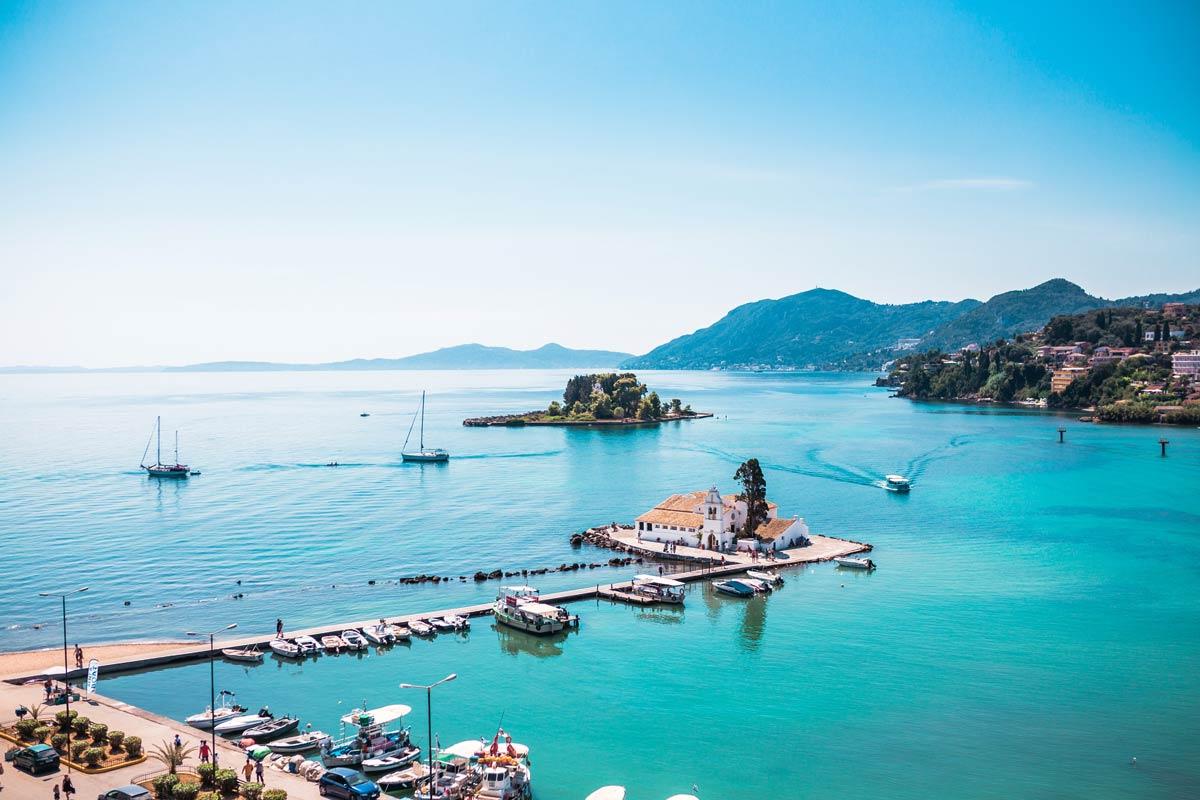 beach seafront villas pool barbati corfu pontikonisi kanoni