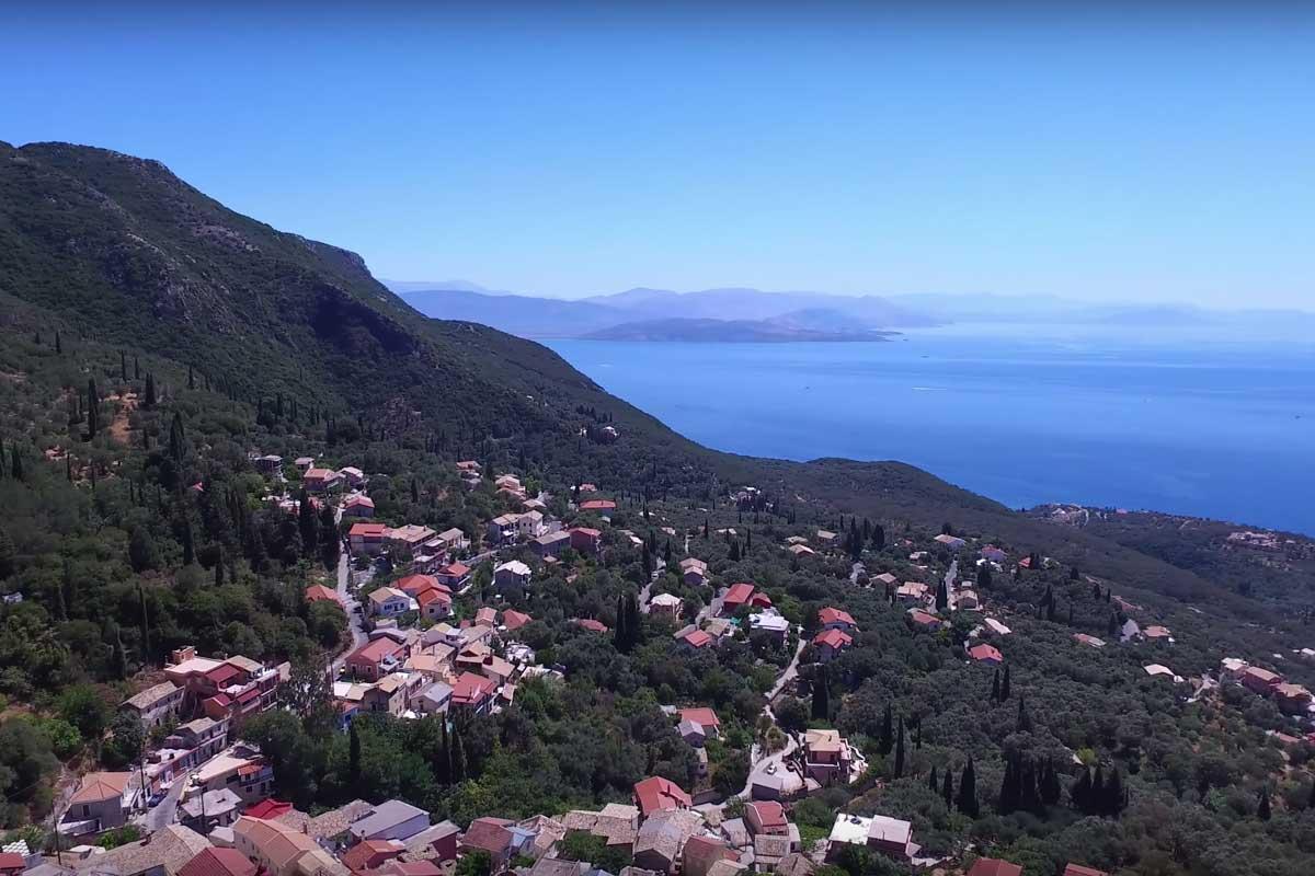 spartylas village barbati corfu seafront pool villas